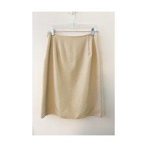 J.Crew Metallic Beige Pencil Skirt Wool Blend 6